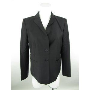 Ann Taylor Lined Button-Down Blazer Jacket